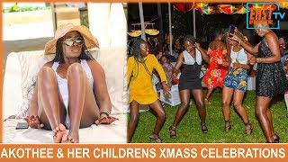 Akothee And All Her Five Children Celebrating Christmas In Style !!!!