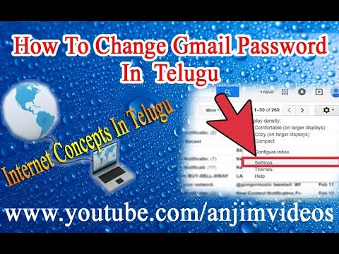 How To Change Gmail password In Telugu || Internet Concepts In Telugu || Internet Basics In Telugu