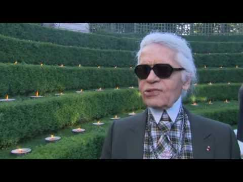 Karl Lagerfeld Interview at Chanel Cruise 2012-13 Collection Show