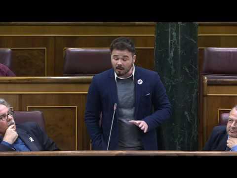 """""""VOX, PP y Cs, los 3 jinetes de la apocalipsis ultraderecha"""" Gabriel Rufián"""
