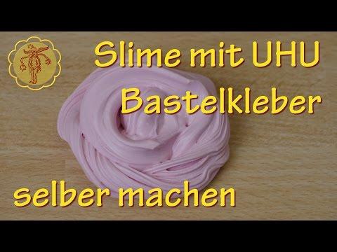 Fluffy-Slime mit UHU Bastelkleber selber machen - ohne Waschmittel und ohne Boraxpulver