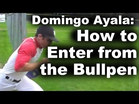 6-time saves leader, Domingo Ayala, teaches how to have an intimidating entrance from the bullpen...even though he usually just moves from shortstop to the m...