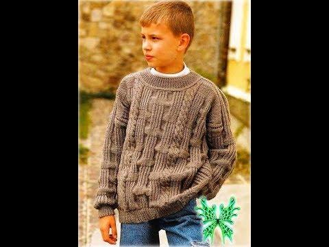 Связанные Спицами Джемпера для Мальчиков - 2019 / Knitted Sweaters For Boys