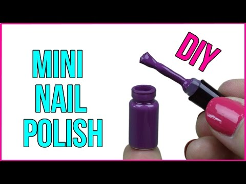DIY Mini Nail Polish! Real Miniature Nail Polish - Cool DIY Project