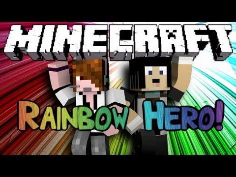 Minecraft: Mini Game: Rainbow Hero! w/ Deadlox (Guitar Hero In Minecraft!)