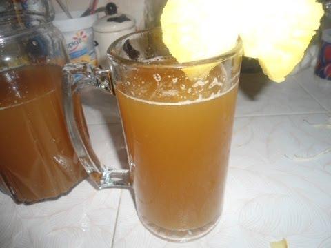 receta de tepache de piña casero-bebida refrescante-comiendoricoyfacil
