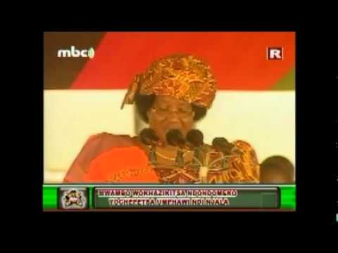 Part 1 of 2 : President Joyce Banda's Speech at Mangochi-Lipinga, June 2012 (English version)