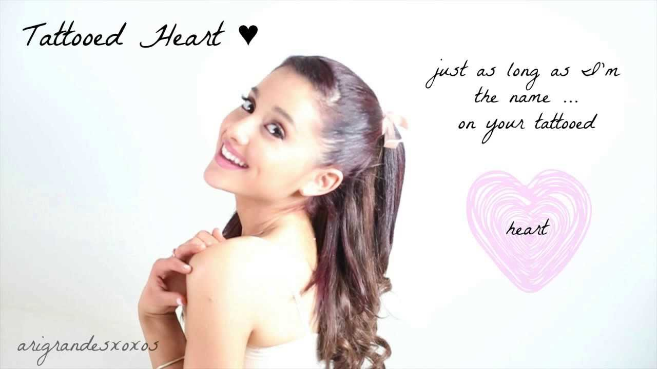 ariana grande tattooed heart live lyrics youtube