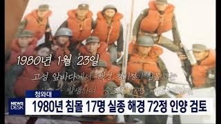 투/청와대, 1980년 침몰 해경 72정 인양 검토