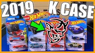 Unboxing Hot Wheels 2019 K Case 72 Car Assortment! *Dodge Demon*