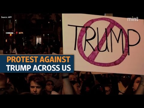 Donald Trump's shock win as US president triggers protests