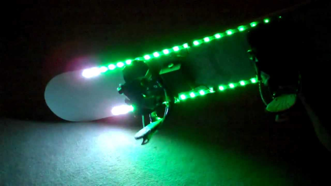 Led Snowboard Motion Controlled Lighting Demos Youtube