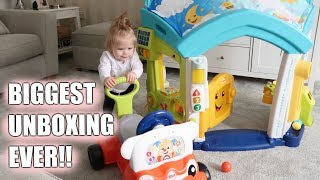 ELLA'S BIGGEST UNBOXING EVER!! | FISHER-PRICE LAUGH AND LEARN | Sarah-Jayne Fragola AD