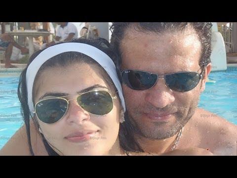 شاهد ماجد المصرى مع زوجته وإبنه اللى زى القمر...ماشاء الله