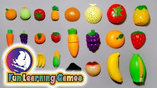 Learn names of fruits and vegetables and shapes | educational video compilation