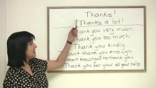 Polite English - 8 ways to say Thank You