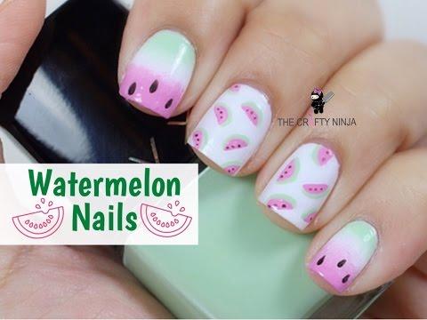 Watermelon Nail Art Tutorial - Dinnye köröm tipp