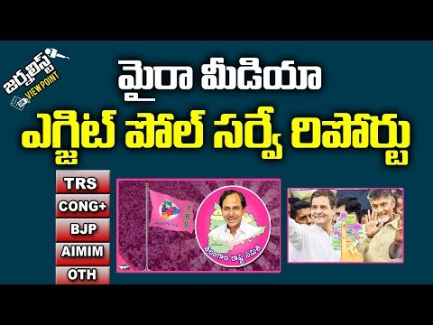 Myra Media Exit Poll Survey On Telangana Polling | Journalist Viewpoint |Lagadapati Report Analysis