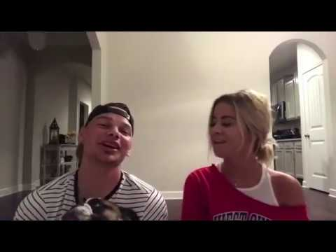 Kane Brown and His Wife Singing together for Valentines Day