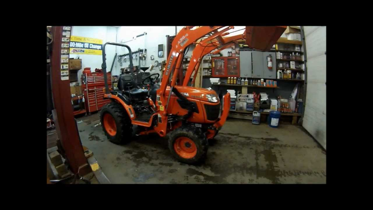 How To Change The Oil Oil Filter And Replace Your Air Filter On Your Kubota 2920 Tractor Part