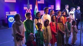 The Children of U.S. Consulate General Mumbai Sing Rashtra Geet