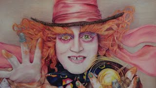 Alice Through the Long GlMad Hatter Timelapse Drawing