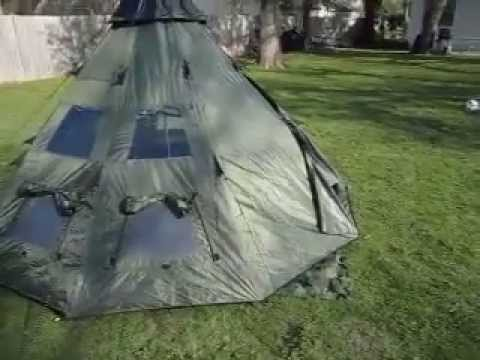 Review Gear Guide TeePee Tent. for Camping.