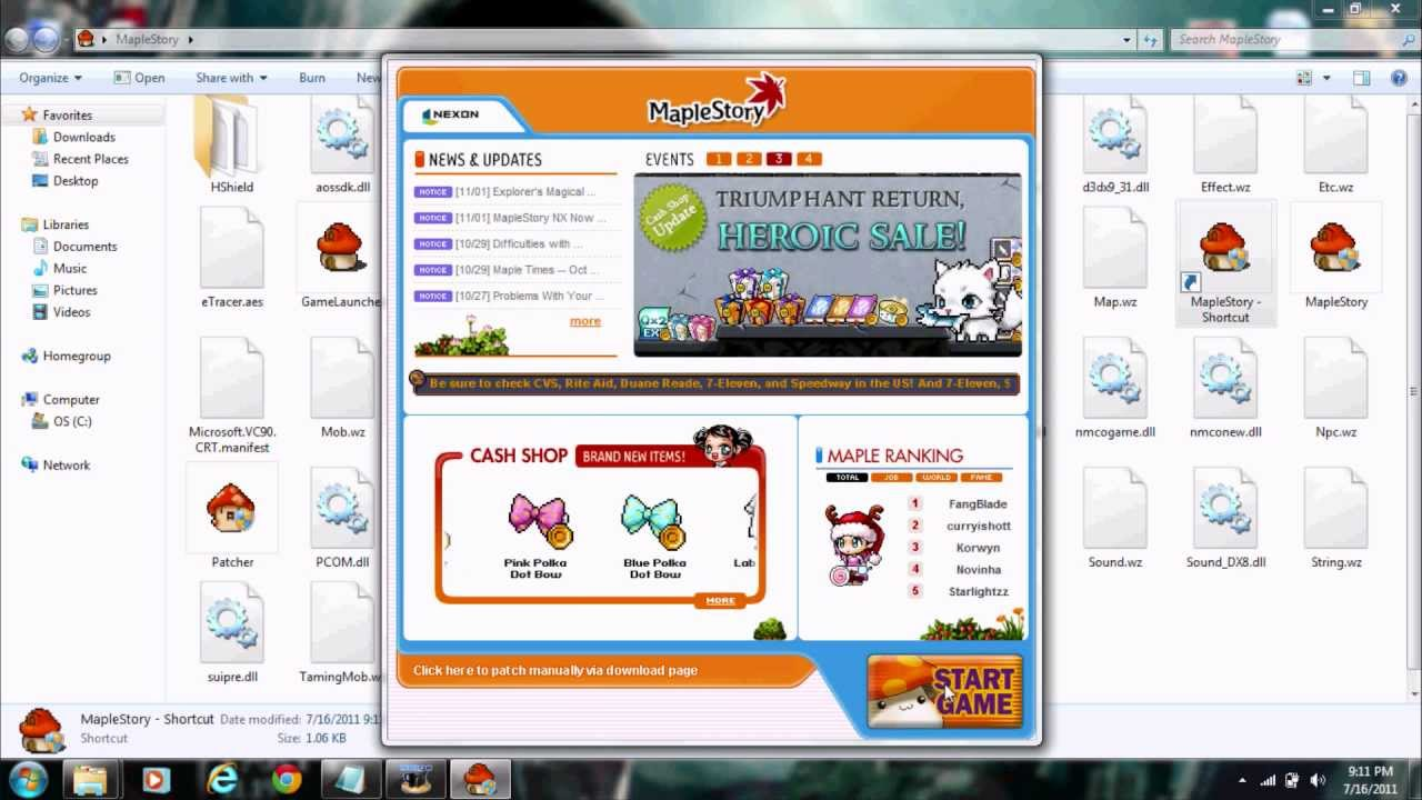 How to make a maplestory video with windows movie maker
