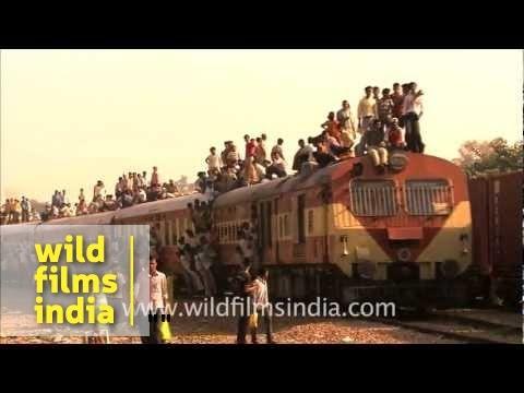 Indian train in all its (crowded!) glory!
