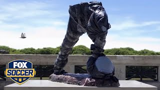 Who stole half of Lionel Messi's statue? | FOX SOCCER