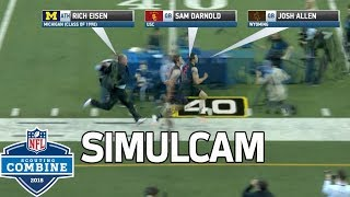 40-Yard Dash Simulcam: Eisen vs. Barkley, Darnold, Shaquem Griffin & More! | NFL Combine Highlights