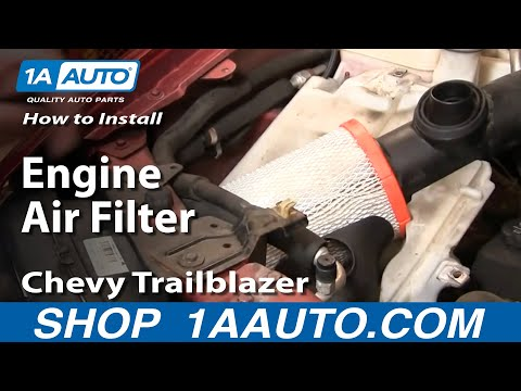 How To Install Replace Engine Air Filter Chevy Trailblazer GMC Envoy 02-09 1AAut