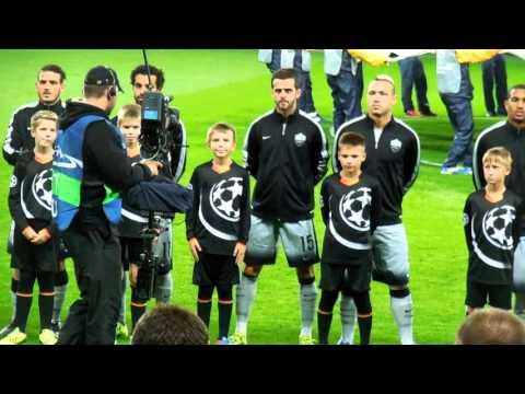 БАТЭ - Рома. Гимн Лиги чемпионов.