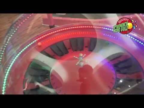 Mini Golf Dubai - Automatic Spin Wheel at Funky Mini Golf Arabian Center. Check it Out!