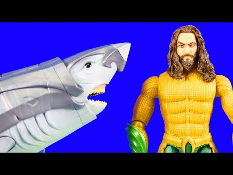 Aquaman Vs Orm & Black Manta + Warrior Shark ! Superhero Toys