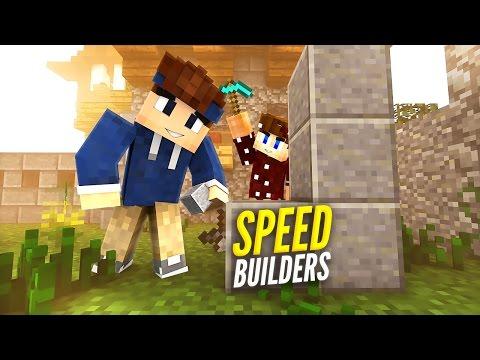 WER BAUT SCHNELLER? | Minecraft Speed Builders