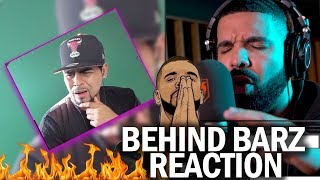 SHOTS AT KANYE!? Drake Behind Barz Freestyle REACTION (Link Up Tv Exclusive)
