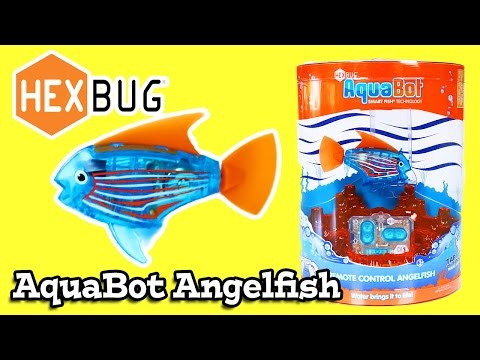 Hex bug aquabot fish unbox test review micro robotic for Hex bug fish