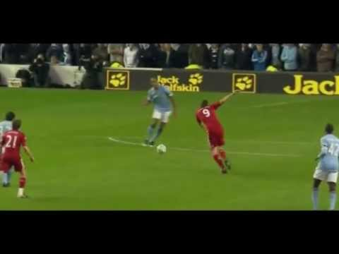 [HD] Andy Carroll First goal for Liverpool against Man City - 2011