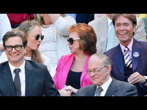 ♥ Colin Firth ♥ Two Clips at Wimbledon 2014, and with his Father, David