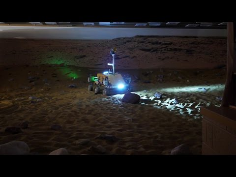 Tim Peake drives Mars Rover Bridget