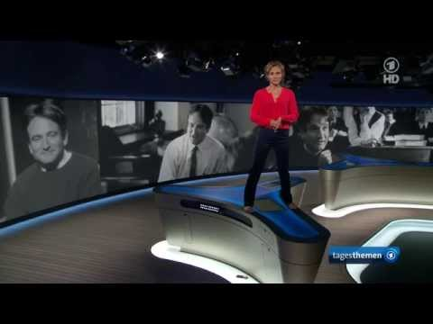 Caren Miosga auf dem Nachrichten-Tisch