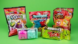 Shopkins Yuck Corny Chips Smelly Beans and Zomlings Blind Packs