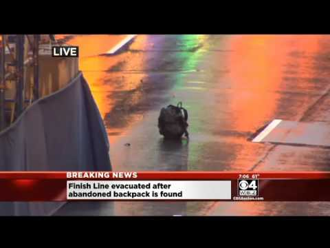 Boylston Street Evacuated After 2 Backpacks Left Near Boston Marathon Finish Line 4/15/14