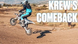 KIDS FIRST DIRT BIKE RACE | RACING ON A DIRT BIKE FOR THE FIRST TIME IN A YEAR | KIDS MOTOCROSS