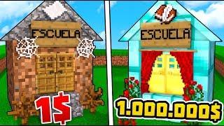 ¿¡ESCUELA DE 1$ VS ESCUELA DE 1.000.000$!? | MINECRAFT TROLL