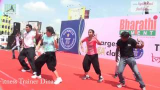 Guinness world Record Attempts by Fitness Trainer Dinaz 4