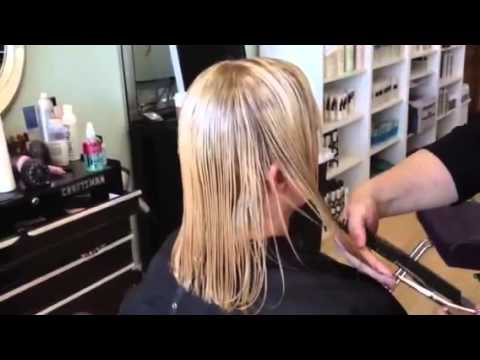 Blonde haircolor makeover