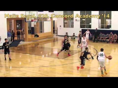 Malin Segal, Concord Academy '14, Hoops Highlights 2013-2014 - 03/20/2014