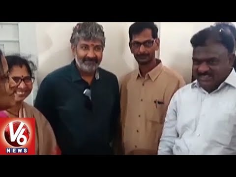 Tollywood Director SS Rajamouli Inaugurates New Classes In ZP High School At Kasimkota | V6 News